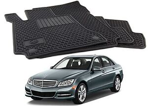 Genuine Oem All Season Rubber Black Floor Mats For 2008 2014 Mercedes Benz C300