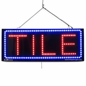 High Quality Large Led Open Signs Tile 13x32 Led factory 2622