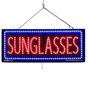 High Quality Large Led Open Signs Sunglasses 13x32 Led factory 2628