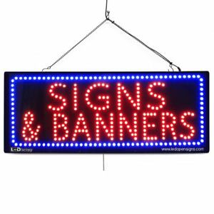 High Quality Large Led Window Sign Signs Banners 13x32 Led factory 2632