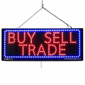 High Quality Large Led Open Signs Buy Sell Trade 13x32 Led factory 2636