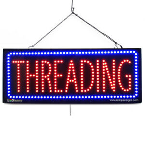 High Quality Large Led Open Signs Threading 13x32 Led factory 2717