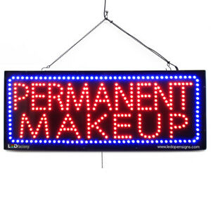 High Quality Large Led Open Signs Permanent Makeup 13x32 Led factory 2730