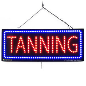 High Quality Large Led Open Signs Tanning 13x32 Led factory 2731
