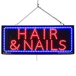 High Quality Large Led Open Signs Hair Nails 13x32 Led factory 2736