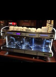 Coffee Machine Espresso Wega Concept 3 Group Green Line