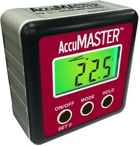 Accumaster 2 in 1 Digital Level Angle Gauge Measuring Woodworking Inclinometer