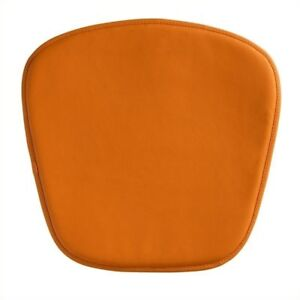 Brika Home Modern Leatherette Chair Cushion In Orange
