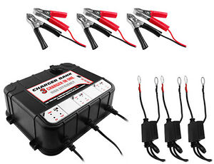 3 Bay 6 12v 2a Float Charger Tender For Auto Marine Battery 2 Year Warranty