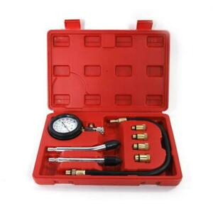 Spark Plug Cylinder Compression Tester Test Kit Professional Gas Engine Tool Box