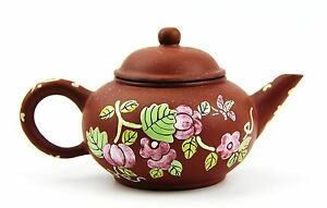 Chinese Yixing Zisha Clay Artistic Dark Brown Teapot And Cover New 32