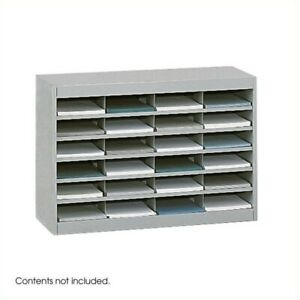 Safco E z Stor Grey Mail Organizer 24 Letter Size Compartments