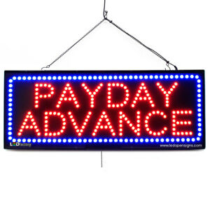 High Quality Large Led Open Signs Payday Advance 13 x32 Led factory 2649