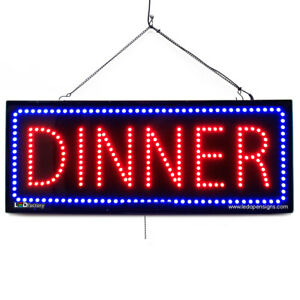 High Quality Large Led Open Signs Dinner 13 x32 Led factory 2655