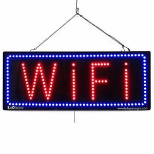 High Quality Large Led Open Signs Wifi 13 x32 Led factory 2670