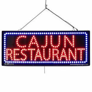 High Quality Large Led Open Signs cajun Restaurant 13 x32 led factory 2675
