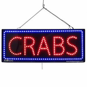 High Quality Large Led Open Signs Crabs 13 x32 Led factory 2677