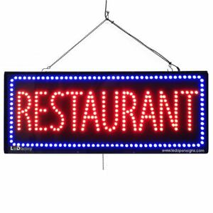 High Quality Large Led Open Signs Restaurant 13 x32 Led factory 2683