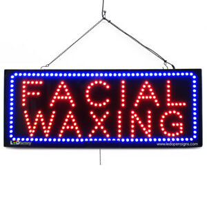 High Quality Large Led Open Signs Facial Waxing 13 x32 Led factory
