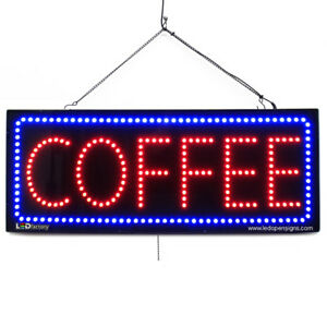 High Quality Large Led Open Signs Coffee 13 x32 Led factory 2757