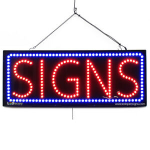 High Quality Large Led Open Signs Signs 13 x32 Led factory 2760