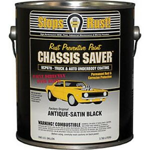 Chassis Saver Paint Stops And Prevents Rust Satin Black 1 Gallon Can New