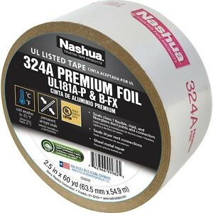 2 5 In X 60 Yd 324 Amp Premium Cold Weather Foil Ul Listed Hvac Duct Tape N