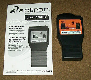 88 Mustang Gt 5 Liter Engine Code Scanner Actron Model Cp9015