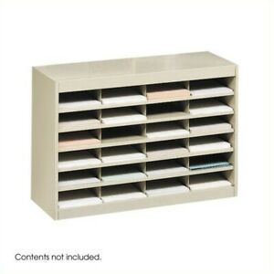 Safco E z Stor Sand Mail Organizer 24 Letter Size Compartments