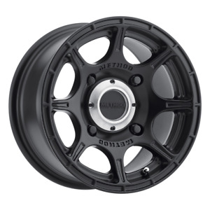 Set 4 14x7 38 4x110 Method Roost Black Wheels Rims 14 Inch 47935