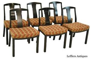 Set Of 6 Mid Century Asian Style Dining Room Chairs By Baker Furniture