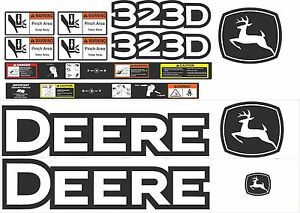 John Deere 323d Loader Decal Kit The Most Complete After Market Kit Available
