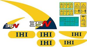 Ihi 35n Mini Excavator Decal Set High Quality Aftermarket Decals