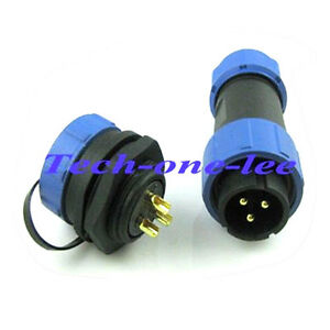 10pcs 3pin 21mm Waterproof Connector Aviation Socket Male Female Cable Electric