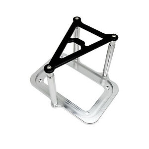 Optima Billet Aluminum Battery Hold Down Tray Black Clear Anodized Mount