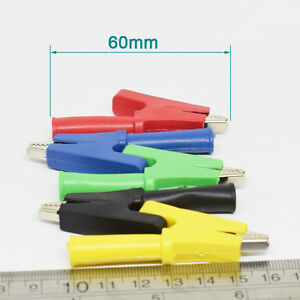 200pcs Full Insulate Alligator Clip To 4mm Banana Female Test Clamp 10mm Opening