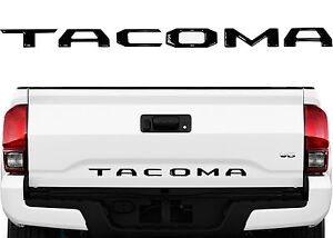Black Tailgate Letter Inserts Emblem Badge For 2016 2019 Toyota Tacoma New Usa