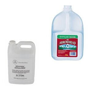 Mercedes Benz 1 Engine Coolant Antifreeze And 1 Gallon Distilled Water New