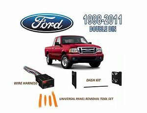 Brand New 1998 2011 Ford Ranger Stereo Install Dash Kit Wire Harness
