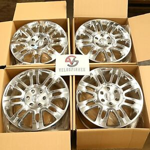 1 Set New 20 2009 14 Ford F150 Expedition Polished Alloy Wheels Rims 6 Lug 3788