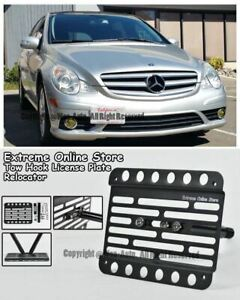 06 10 For Mb No Pdc R class Front Tow Hook Bumper Adapter License Plate Bracket
