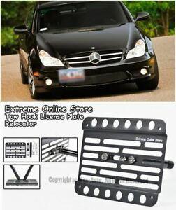2005 10 For Mercedes Benz Cls class No Pdc Front License Plate Bracket Tow Hook
