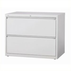 Hirsh Hl10000 Series 30 2 Drawer Lateral File Cabinet In Gray