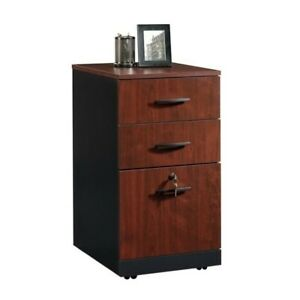 Sauder Via 3 Drawer File Cabinet In Classic Cherry