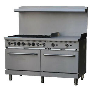 Comstock Castle R10 24 Gas 60 Restaurant Range With 24 Griddle 300 000 Btu