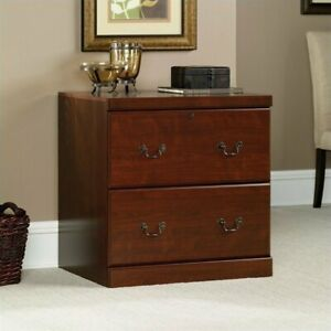 Filing Cabinet File Storage 2 Drawer Lateral Wood In Classic Cherry