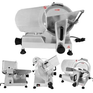 12 Kitchen Blade Commercial Meat Slicer Semi auto Food Slicer Cutter Machine Us