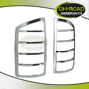 02 06 Dodge Ram 1500 2500 3500 Tail Light Lamp Cover Triple Chrome Plated Abs
