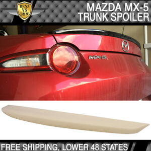 Fits 16 17 Mazda Mx 5 Miata Oe Factory Style Trunk Spoiler Abs