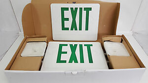 Combo Led Emergency Light Exit Sign Cxteu2gwrc Double Face Green Letters